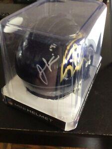 NFL Riddle Jamal Lewis Speed Mini Helmet #31 Inscription W/ COA