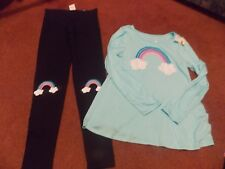 justice-girls -size 20--2 piece top and legging set--rainbow---cute --nwt