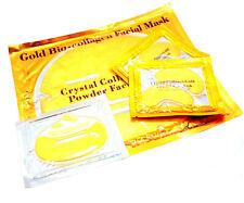 Pamper Pack GOLD Collagen FACE MASK 24K GIFT SET Bio Crystal Anti-Ageing LIP EYE