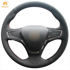 Soft Black Genuine Leather Steering Wheel Cover for Chevrolet Cruze 2015 Volt