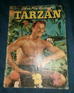 Edgar Rice Burroughs Tarzan #35 GD dell comics 1952 lex barker photo cover movie