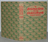 A Christmas Carol Book & Cricket On The Hearth Charles Dickens, Hb1968.J.M. Dent