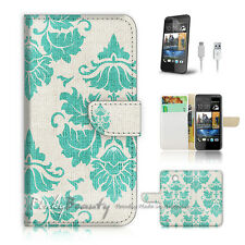 ( For HTC Desire 310 ) Case Cover! Damask Fabric Pattern P0025