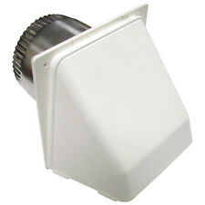 Lambro White Finish with 4-in Opening Maximum Exhaust Dryer Vent Hood