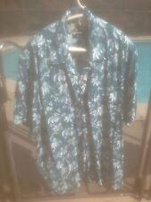 Reyn Spooner Hawaiian Shirt Flowers Floral 100% Rayon Purple XL EUC