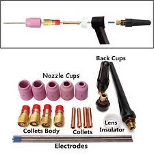 21pcs/set Welding Torch Stubby Gas Lens Kit Tool for Tig WP-17/18/26 Series WL20