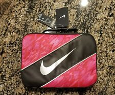 Nike Contrast Insulated Reflective Pink Black Tote Lunch Bag Lunch Box one size