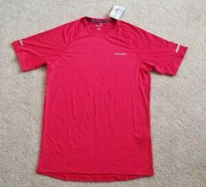 NEW BALEAF Mens Red Quick Dry Short Sleeve Athletic T-Shirt, Size Medium Tall