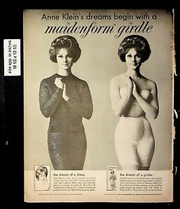 1961 Maidenform Girdle Anne Klein Clothes Vintage Print Ad 19201