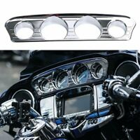 Chrome Tri-Line Gauge Trim Cover For Harley-Davidson Touring Trike 2014-2019