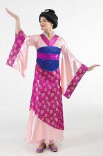 NWT EURO DISNEY PRINCESS MULAN GEISHA PINK COSTUME DRESS & BELT WOMENS ADULT S