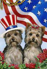 "Precious Pet Garden Flag - Yorkshire USA Flag 12"" x 18"" ~ Charity!"