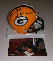 PACKERS C.J. Wilson signed mini helmet w/ SB XLV Champs AUTO Super Bowl 45