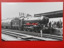 PHOTO  GWR 6000 KING GEORGE V AT GLOUCESTER CENTRAL 12/10/85 RED DRAGON TOUR