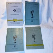 Lot 4 Outstanding! 1940's-50's Kansas Telephone Directory Swb reference book