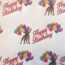 STAFFY STAFFORDSHIRE TERRIER BIRTHDAY GIFT WRAPPING PAPER PETS DOGS MUM DAD