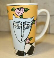 Bad Cat Collection tall mug by Ursula Dodge Coffee Tea Latte Hot Chocolate Cup
