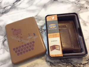 Men's Unisex Genuine Leather Credit Card ID HOLDER CLIP BILLFOLD WALLET PASSCASE