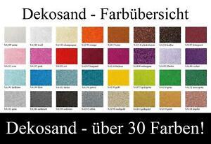 Dekosand im 1 kg Beutel von Eurosand - 30 verschiedene Farben - Farbsand