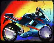 Gilera Cx125 91 A4 Metal Sign Motorbike Vintage Aged