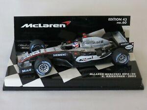Kimi Raikkonen 2005 McLaren Mercedes MP4-20 Minichamps Formula One F1 1:43