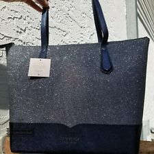 KATE SPADE LOLA GLITTER TOTE SHOULDER BAG PURSE BLUE DUSK NAVY SPARKLING NEW