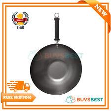 Pro Oriental Carbon Steel Wok 30cm With Colourful Handle - KC1003