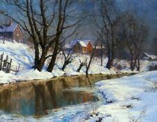 Walter Launt Palmer Winter Morning  American Impressionism Giclee CANVAS Print