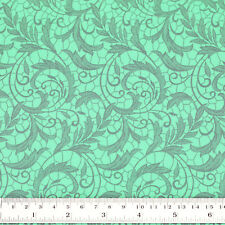 Cotton Fabric FQ Floral Leaf Vine Lace Print Vintage Retro Quilting Crafts VK120