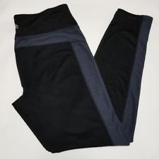 Reebok Performance Women's Black Leggings w/ Gray Knit Detail | Size L