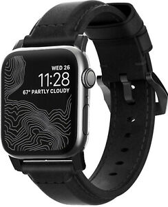 NEW Nomad Classic Strap for Apple Watch 44mm/42mm Black Horween Leather