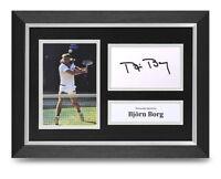Bjorn Borg Signed A4 Framed Photo Display Tennis Wimbledon Autograph Memorabilia
