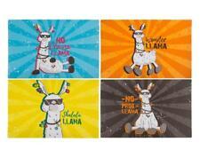 Llama Placemats Set of 4 Fun Crazy Design Kitchen Dining Decor Coasters