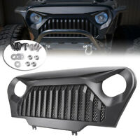 Matte Black Angry Bird Grille Grill fit for 1997-2006 Jeep Wrangler TJ w/Mesh