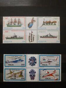 1980 E 1981 ITALIA FRANCOBOLLI COSTRUZIONI NAVALI E AERONAUTICHE BLOCCHI NUOVI 4