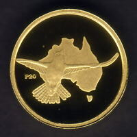 Australia. 2009 (2002) 1/20th oz Gold Kookaburra ($5).  Perth Mint Issue - Proof