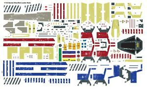 Star Wars Decals 1/144 Bandai X-Wing T-65 red and blue leader