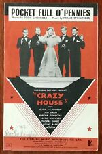 """More details for pocket full o' pennies from """"crazy house"""" with olsen and johnson – pub. 1943"""
