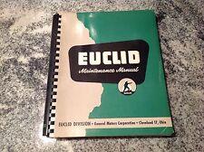 EUCLID engine Maintenance Manual Twin power scrapers