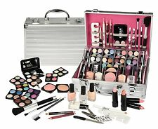 64 PIECE MAKEUP VANITY CASE COSMETIC SET MAKE UP BEAUTY STORAGE URBAN BEAUTY 64