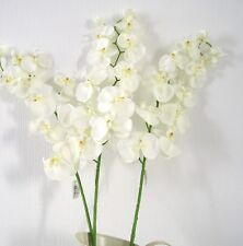 Top Quality Artificial / Silk Flowers Phalaenopsis  Orchid  Sprays 3 Stems Ivory