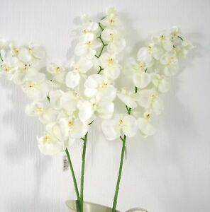 Top Quality Artificial / Silk Flowers Phalaenopsis  Orchids 12 Stems  Bunch