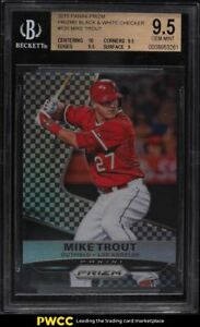 2015 Panini Prizm Black & White Checker Prizms Mike Trout /149 #120 BGS 9.5 GEM