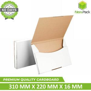 100x Superflat Mailing Box A4 310 x 220 x 16mm Rigid #04 Envelope Flat mailer