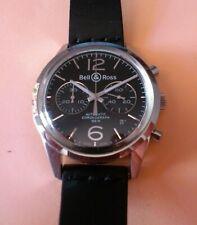 Bell & Ross Reloj pulsera Cronógrafo Vintage Officer BR 126-94 BRG-126-BL-ST