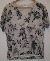 Ladies top size 16/18 black white Bonmarche <MJ3387