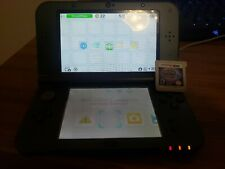 Nintendo 3DS XL, Black W/ Pokemon Moon And Charger.