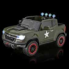 SPORTrax Offroad 4WD Kids Ride On Truck w/MP3 Player/Remote Control - P Green