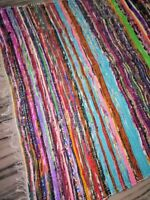 Hand Made Eco Friendly Recycled Braided Multicolor Chindi Cotton Rugs Chindi rag
