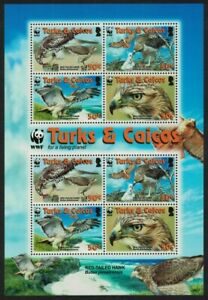 Turks and Caicos Birds WWF Red-tailed Hawk MS 2007 MNH SG#MS1974